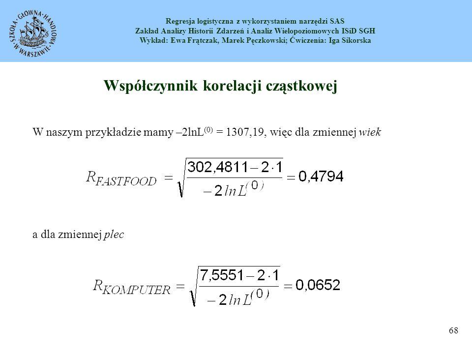Współczynnik korelacji cząstkowej
