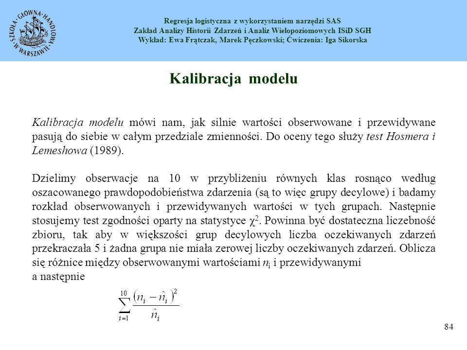 Kalibracja modelu