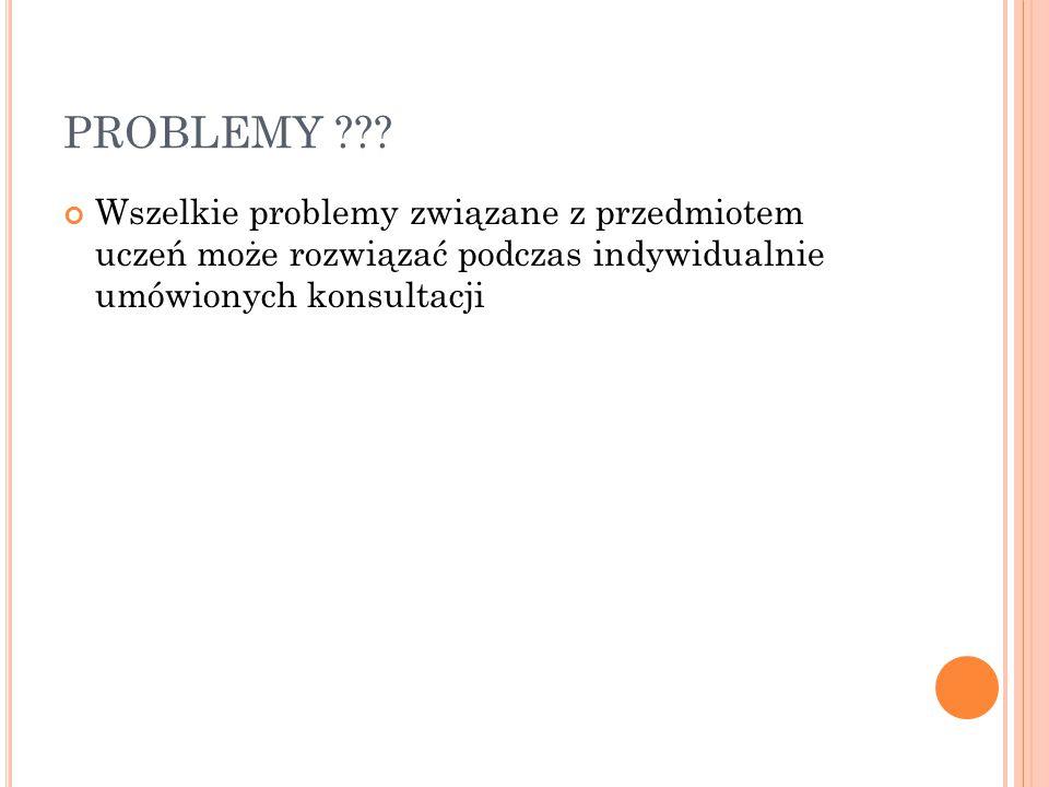 PROBLEMY .