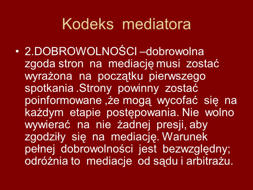 Kodeks mediatora