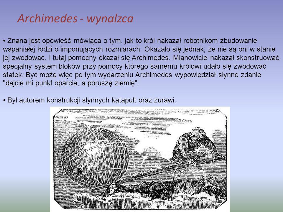 Archimedes - wynalzca