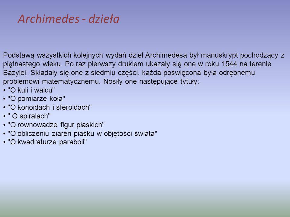 Archimedes - dzieła