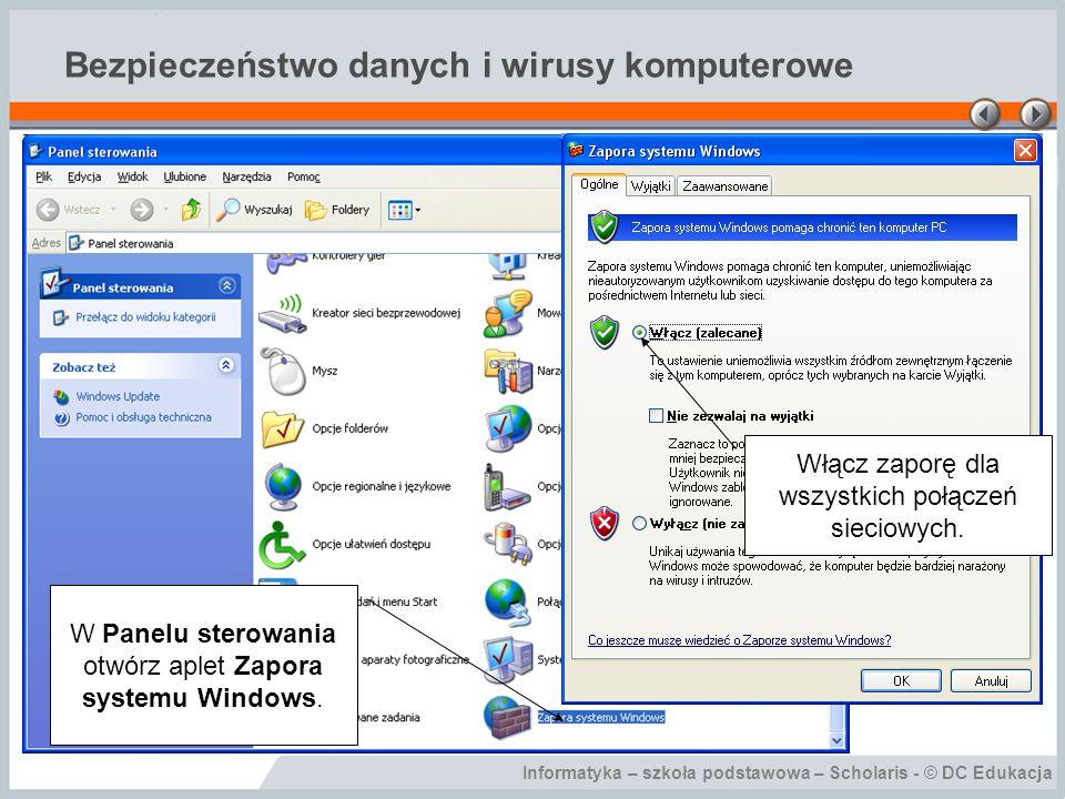Bezpieczeństwo danych i wirusy komputerowe