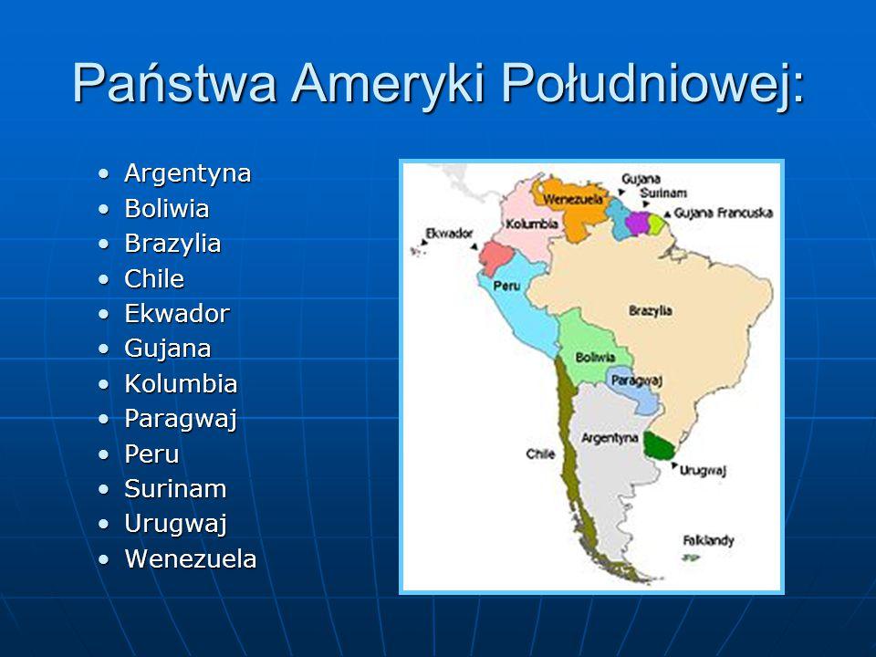 Państwa Ameryki Południowej: