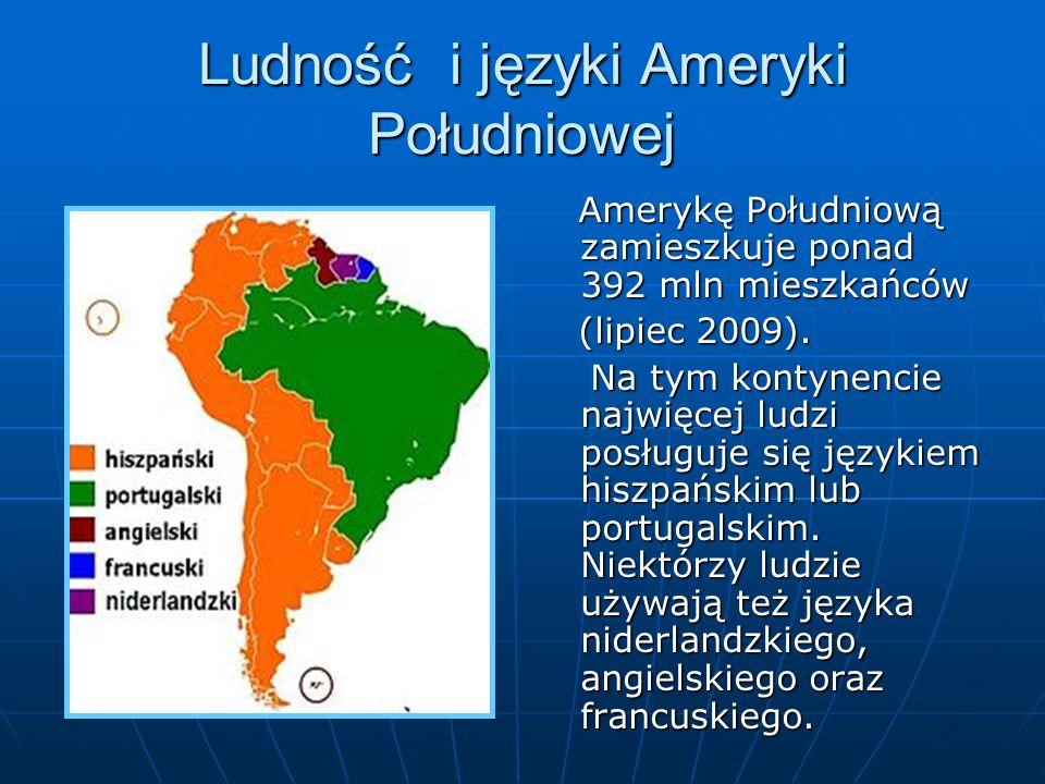 Ludność i języki Ameryki Południowej