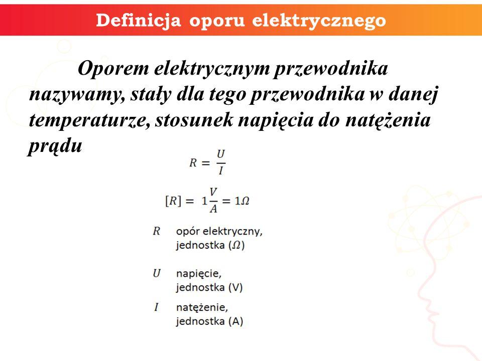 Definicja oporu elektrycznego