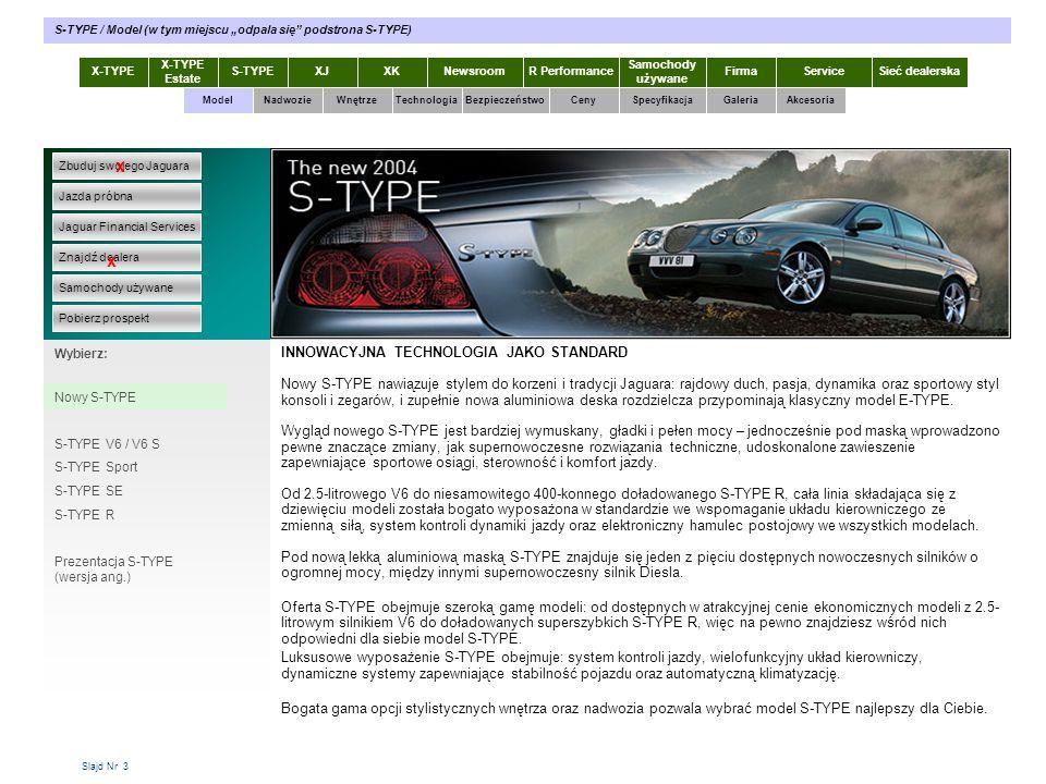 """S-TYPE / Model (w tym miejscu """"odpala się podstrona S-TYPE)"""
