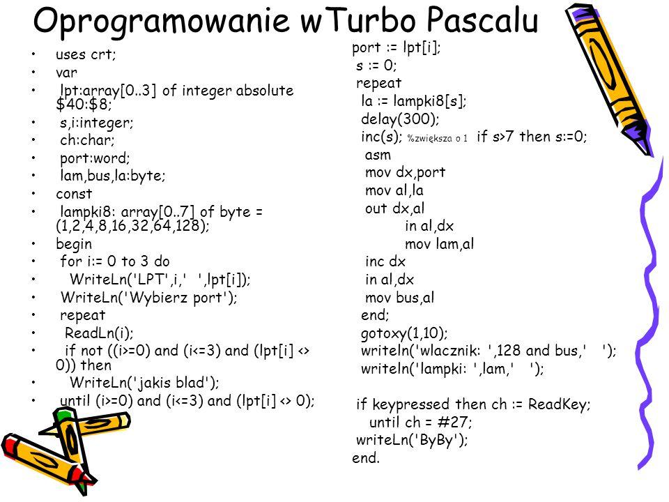 Oprogramowanie wTurbo Pascalu