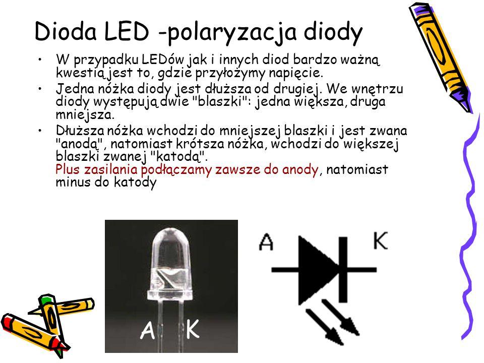 Dioda LED -polaryzacja diody