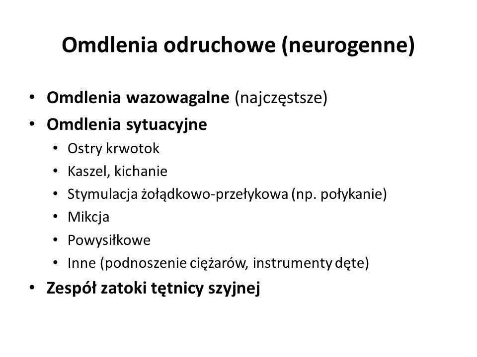 Omdlenia odruchowe (neurogenne)