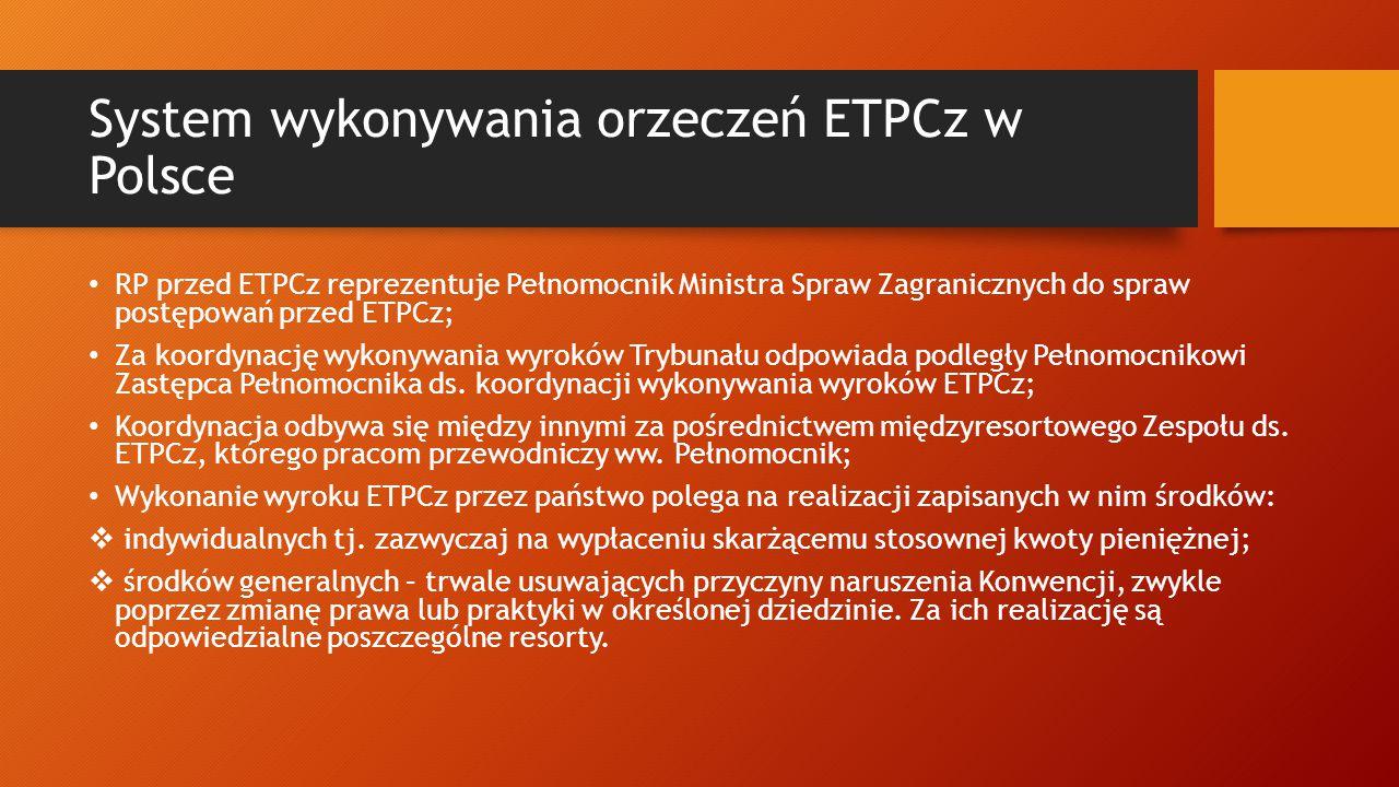 System wykonywania orzeczeń ETPCz w Polsce