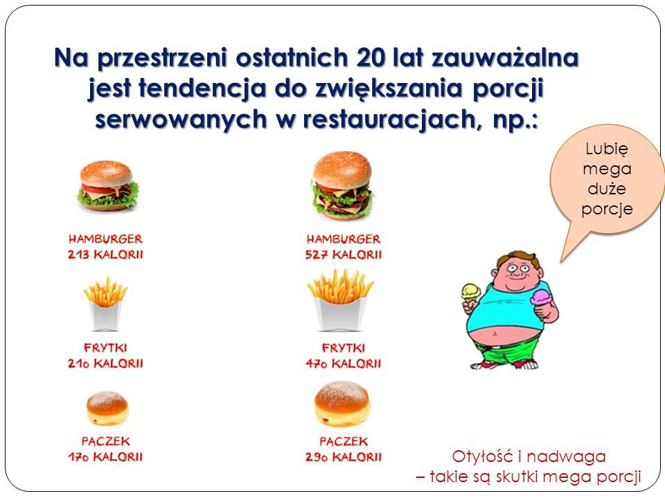Otyłość i nadwaga – takie są skutki mega porcji
