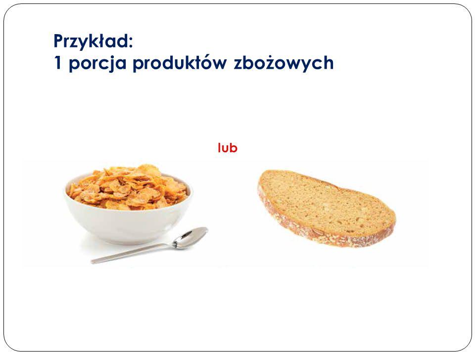 Przykład: 1 porcja produktów zbożowych