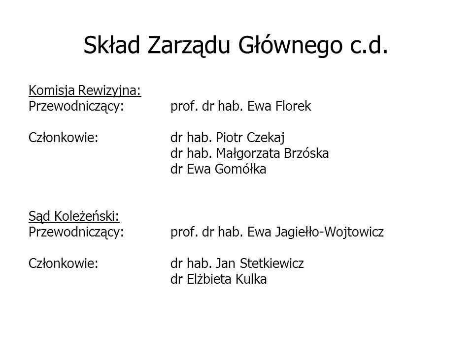 Skład Zarządu Głównego c.d.