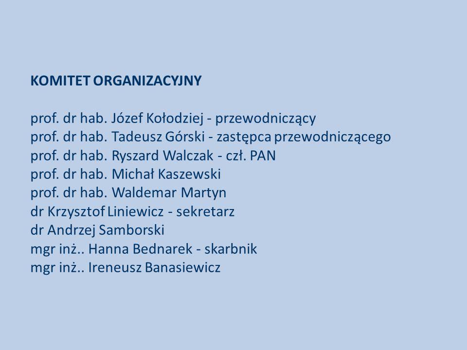 KOMITET ORGANIZACYJNY prof. dr hab