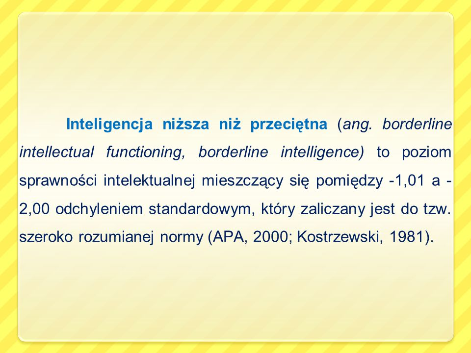 Inteligencja niższa niż przeciętna (ang