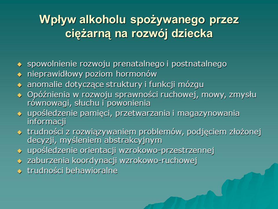 Wpływ alkoholu spożywanego przez ciężarną na rozwój dziecka
