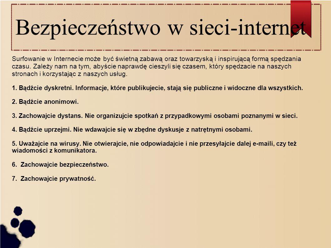 Bezpieczeństwo w sieci-internet