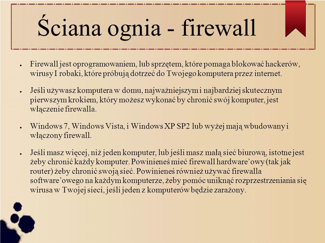 Ściana ognia - firewall
