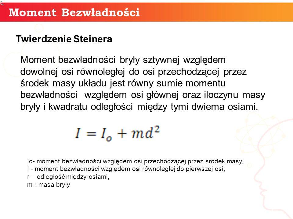 Moment Bezwładności informaty + Twierdzenie Steinera