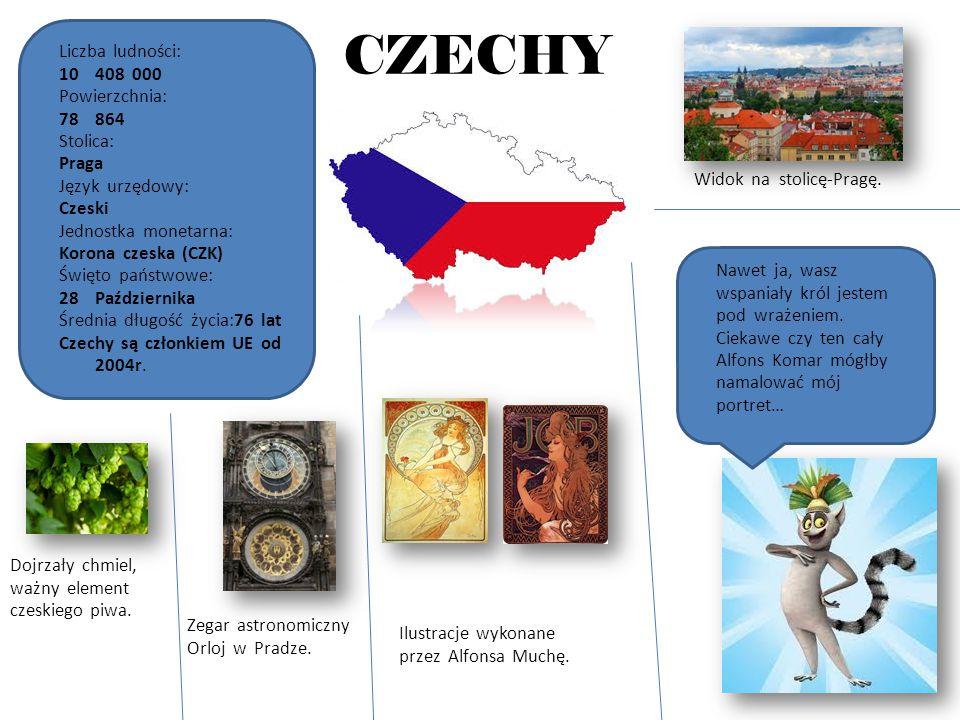 CZECHY Liczba ludności: 408 000 Powierzchnia: 864 Stolica: Praga
