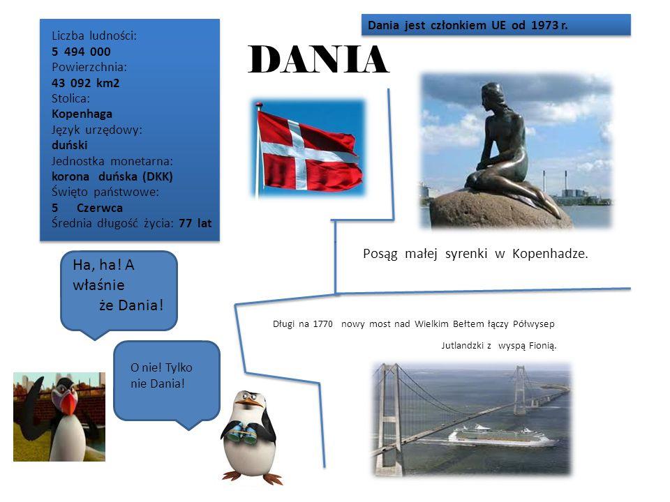 DANIA Ha, ha! A właśnie że Dania! Posąg małej syrenki w Kopenhadze.