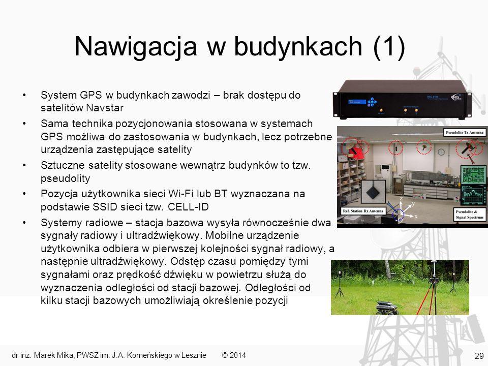 Nawigacja w budynkach (1)