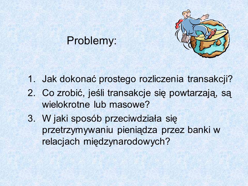 Problemy: Jak dokonać prostego rozliczenia transakcji