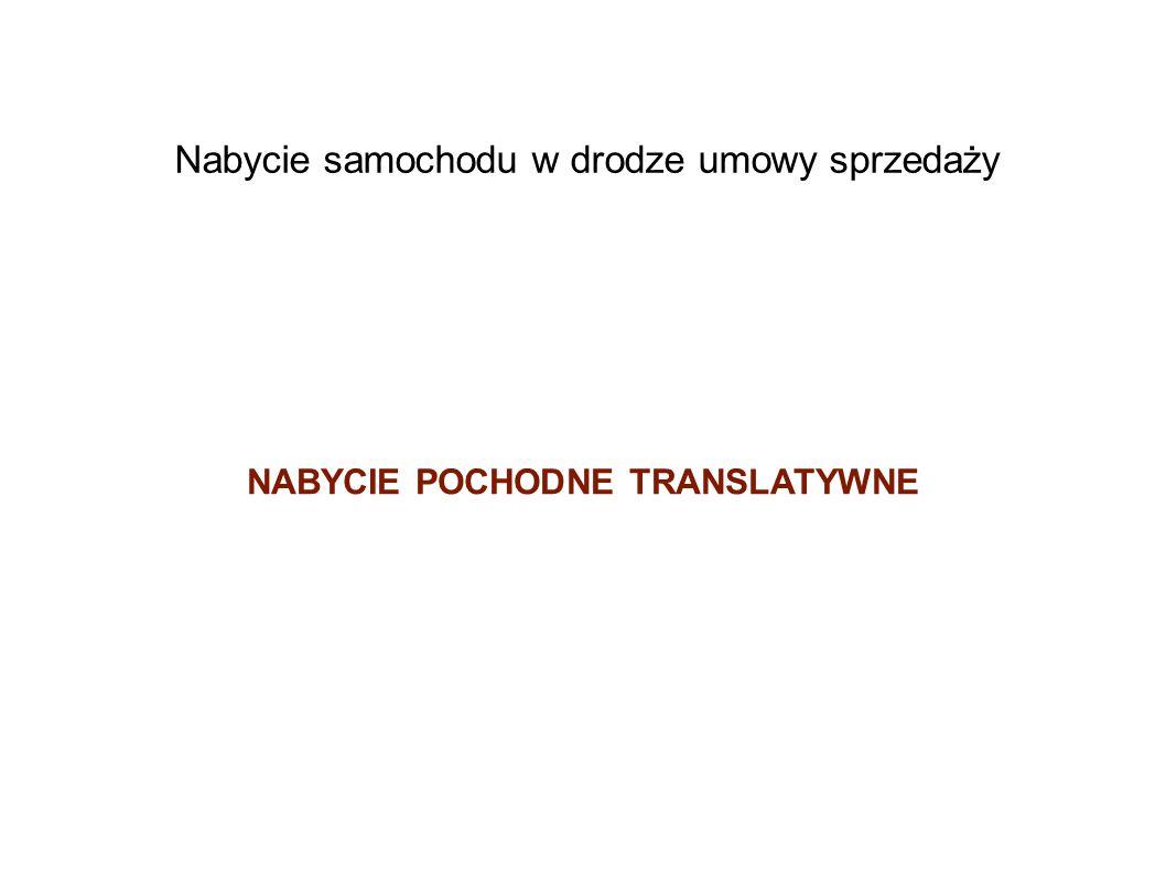 NABYCIE POCHODNE TRANSLATYWNE