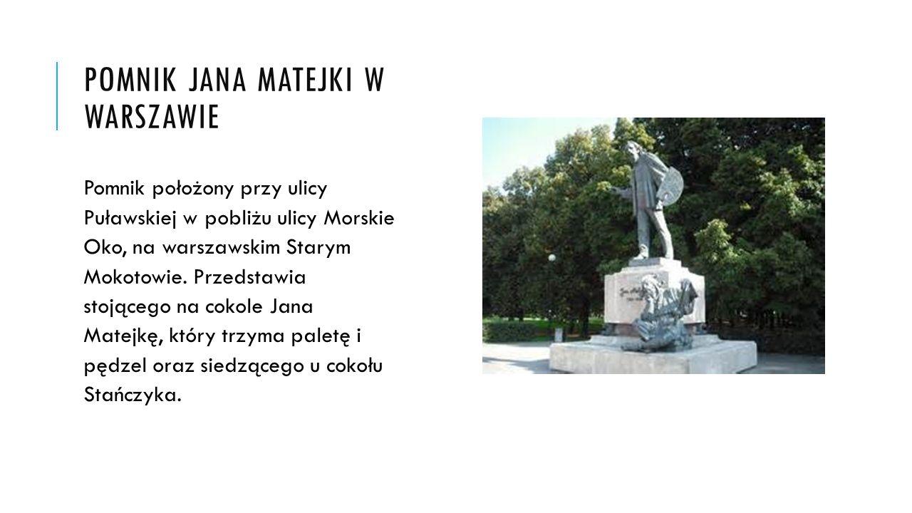 Pomnik Jana Matejki w warszawie