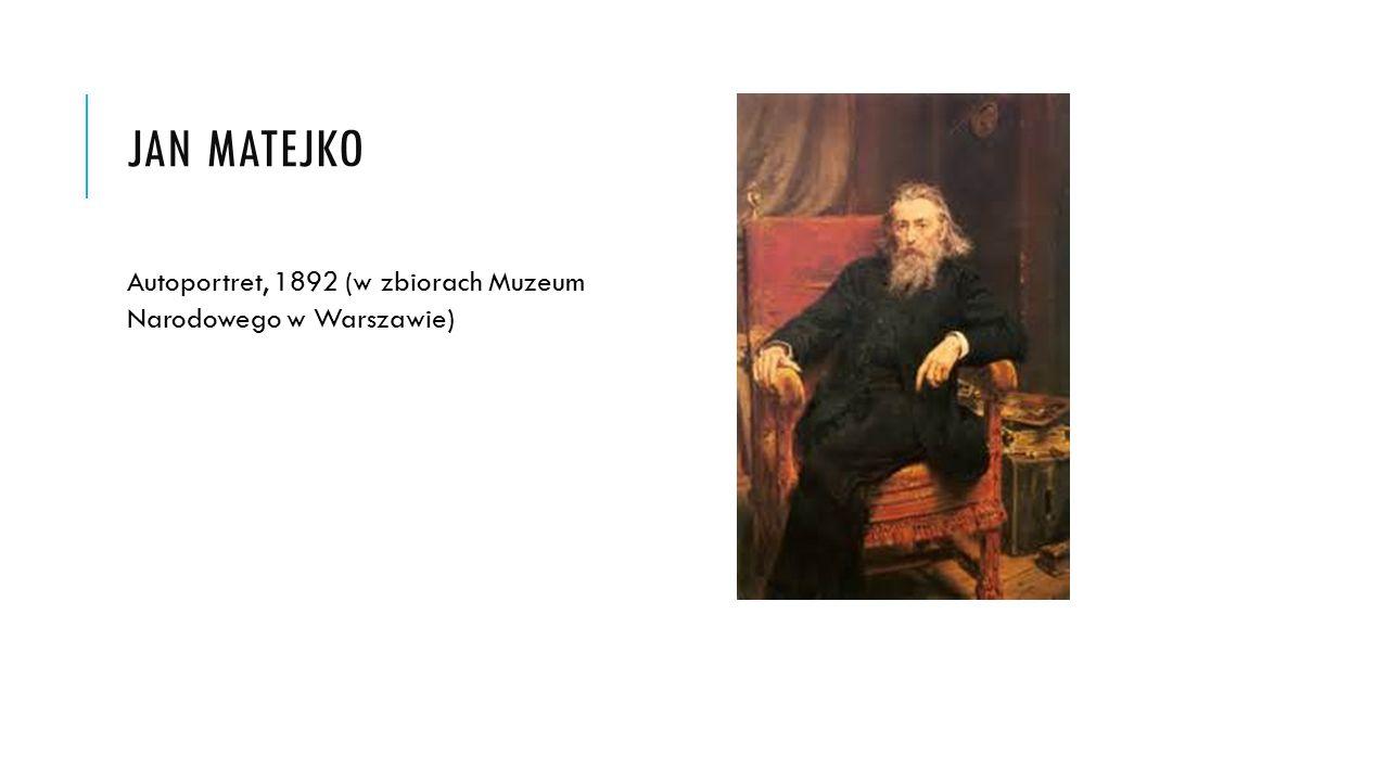 Jan Matejko Autoportret, 1892 (w zbiorach Muzeum Narodowego w Warszawie)