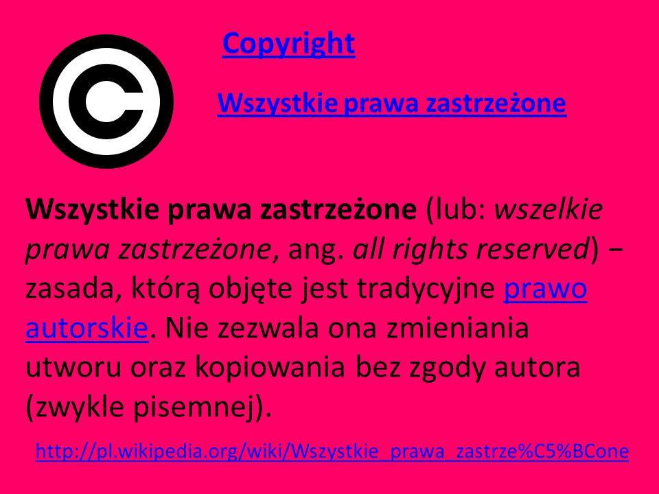Copyright Wszystkie prawa zastrzeżone.