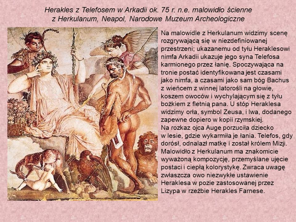 Herakles z Telefosem w Arkadii ok. 75 r. n. e