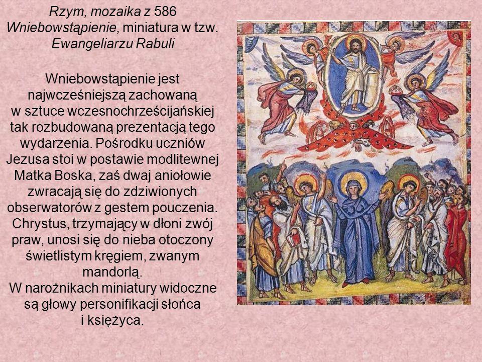 Rzym, mozaika z 586 Wniebowstąpienie, miniatura w tzw