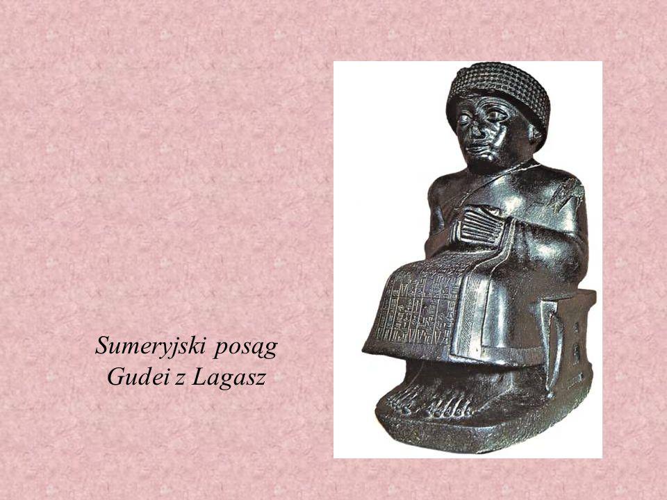 Sumeryjski posąg Gudei z Lagasz