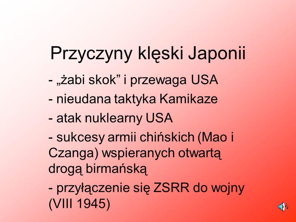 Przyczyny klęski Japonii
