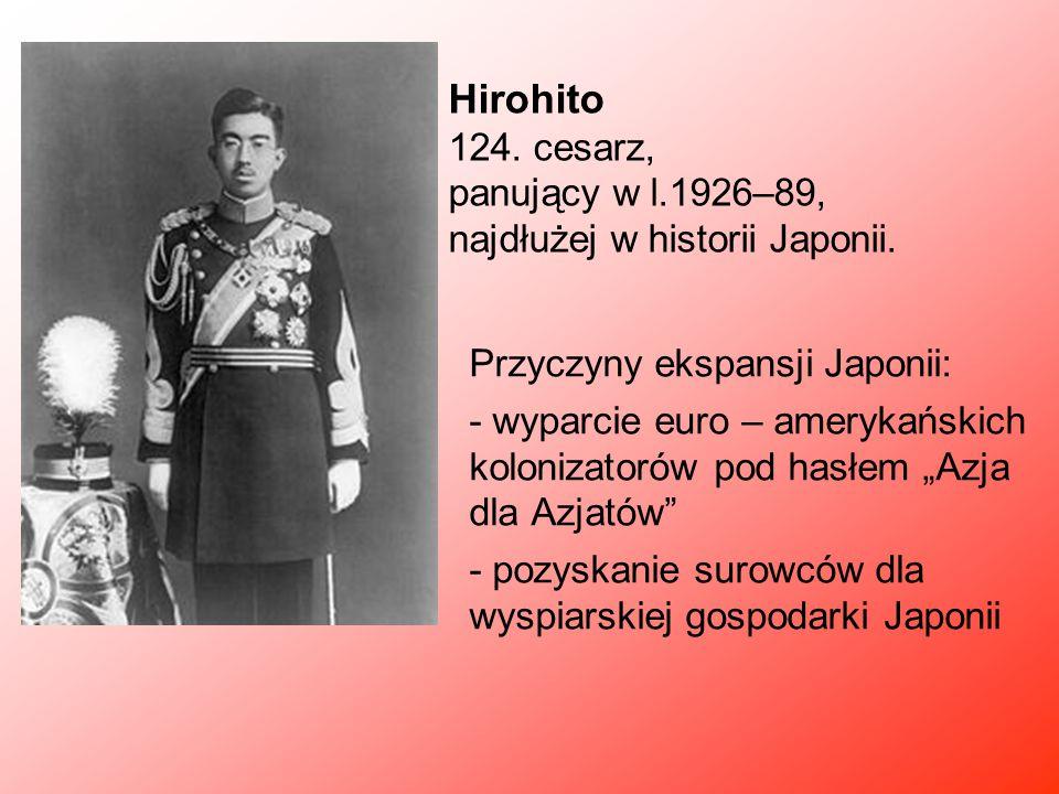 Hirohito 124. cesarz, panujący w l