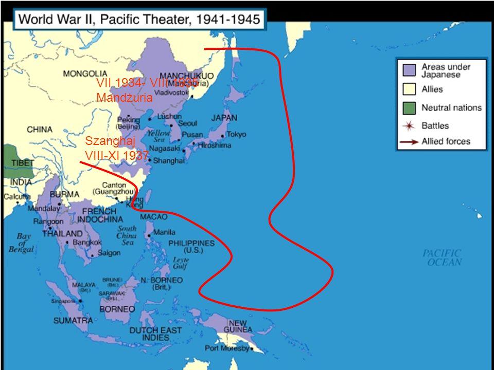 VII 1934- VIII 1935 Mandżuria Szanghaj VIII-XI 1937
