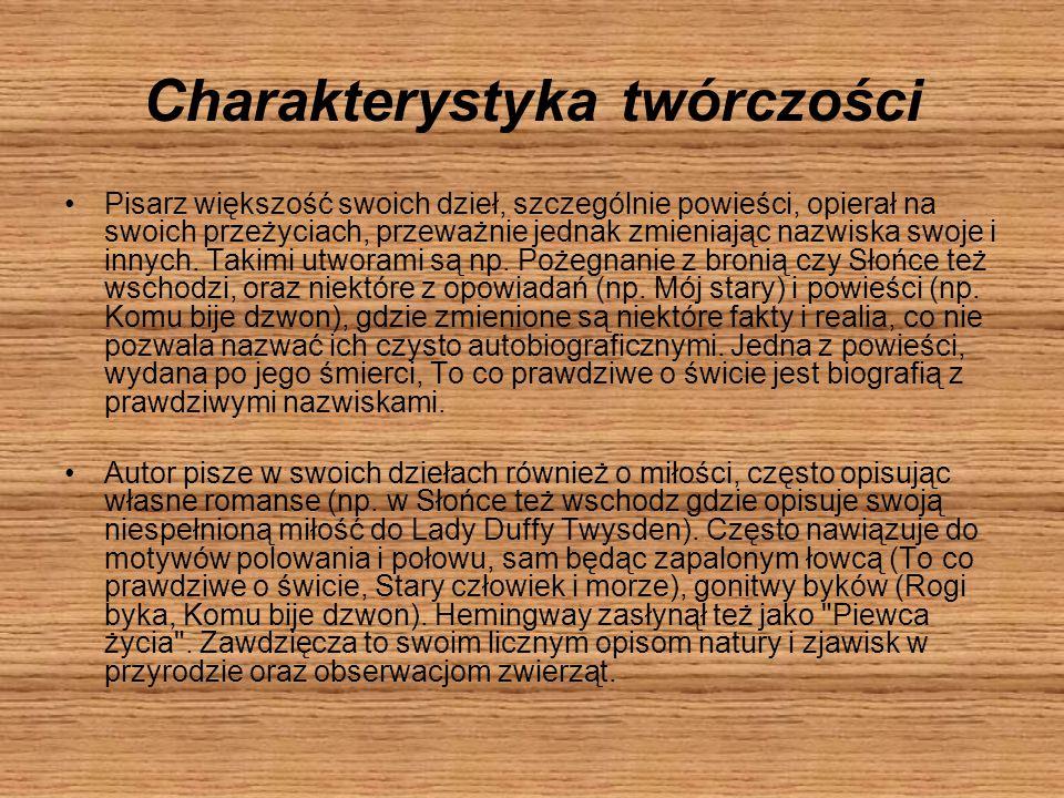 Charakterystyka twórczości