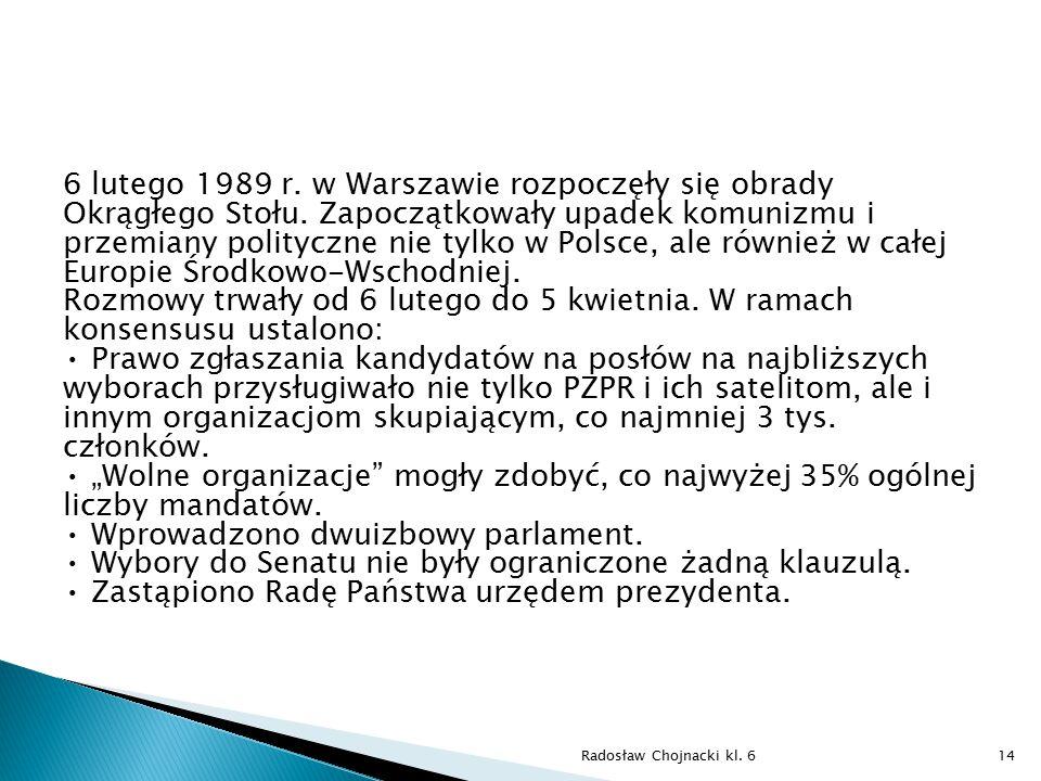 6 lutego 1989 r. w Warszawie rozpoczęły się obrady Okrągłego Stołu