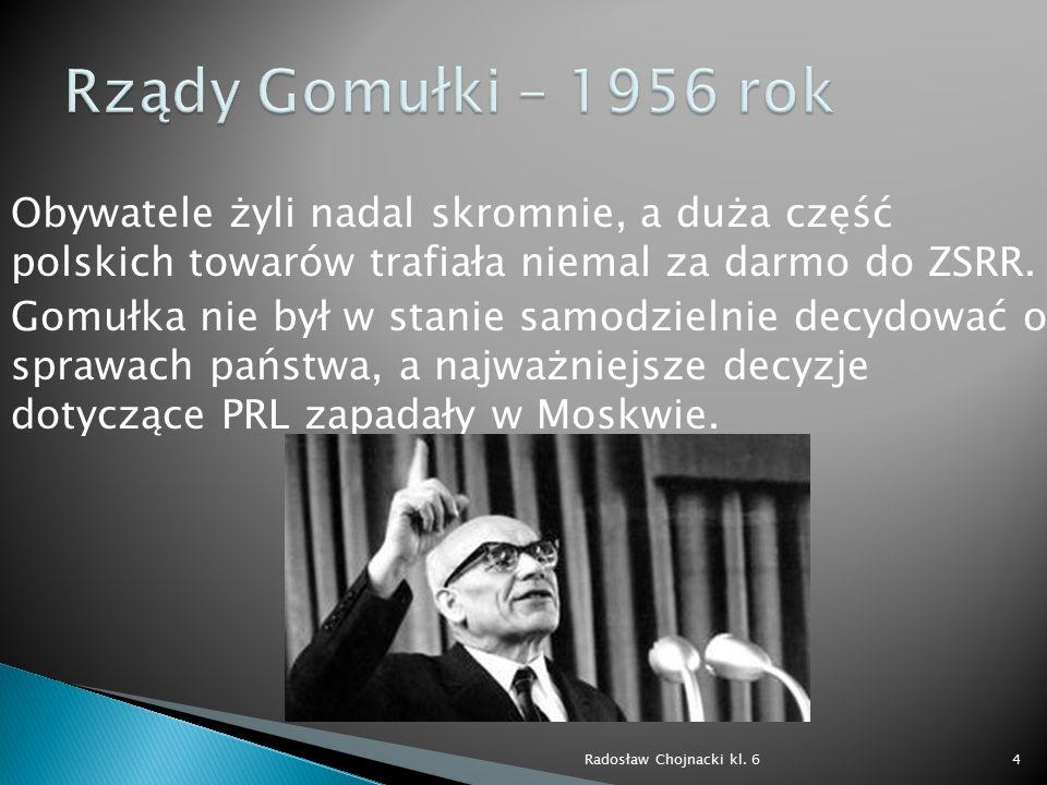 Rządy Gomułki – 1956 rok