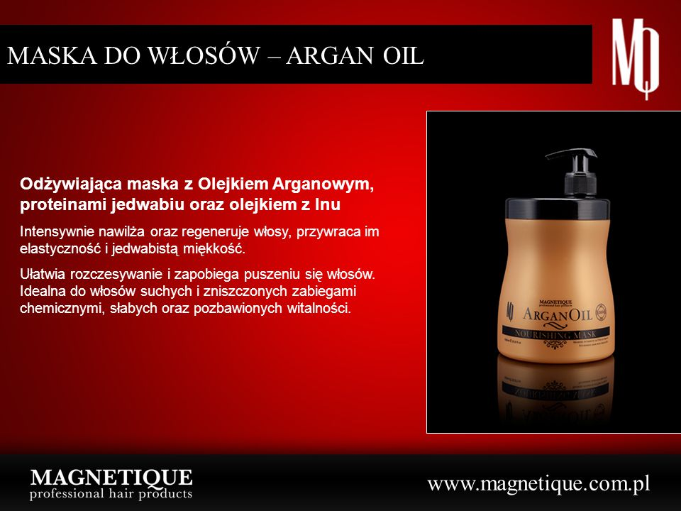 MASKA DO WŁOSÓW – ARGAN OIL