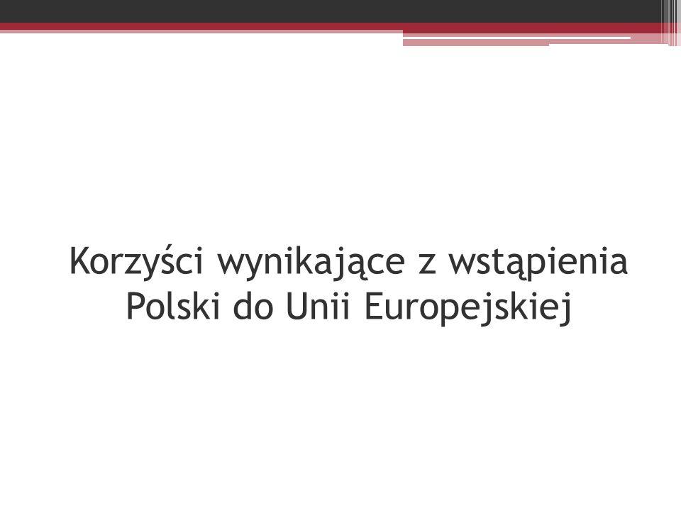 Korzyści wynikające z wstąpienia Polski do Unii Europejskiej