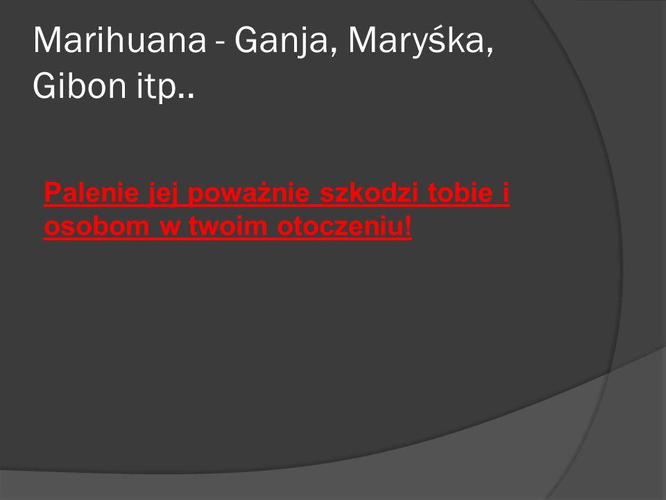 Marihuana - Ganja, Maryśka, Gibon itp..