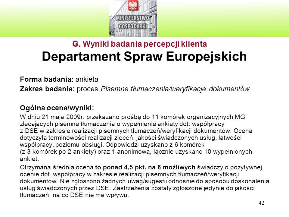Departament Spraw Europejskich