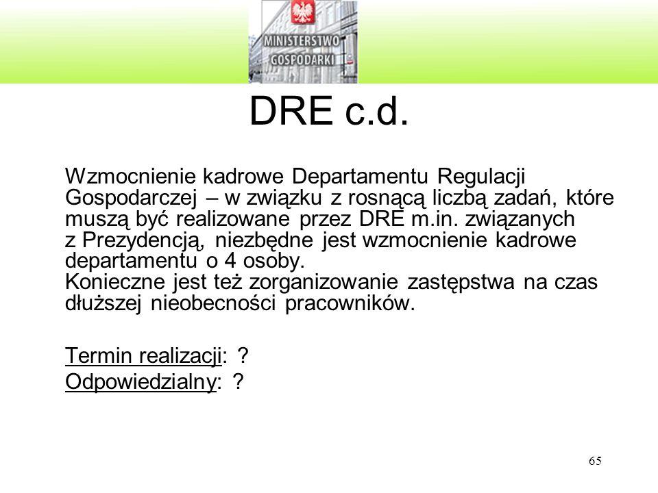 DRE c.d.