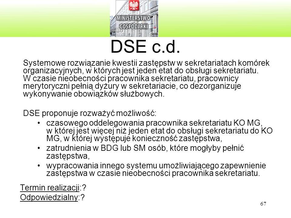 DSE c.d.