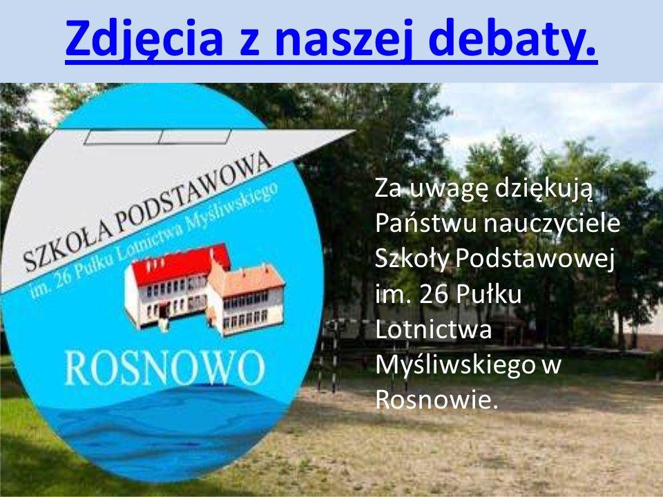 Zdjęcia z naszej debaty.
