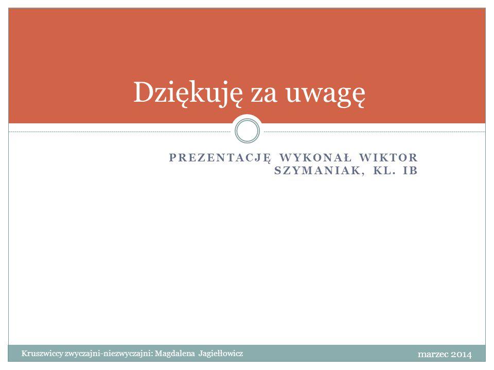 Dziękuję za uwagę Prezentację wykonał Wiktor Szymaniak, kl. Ib