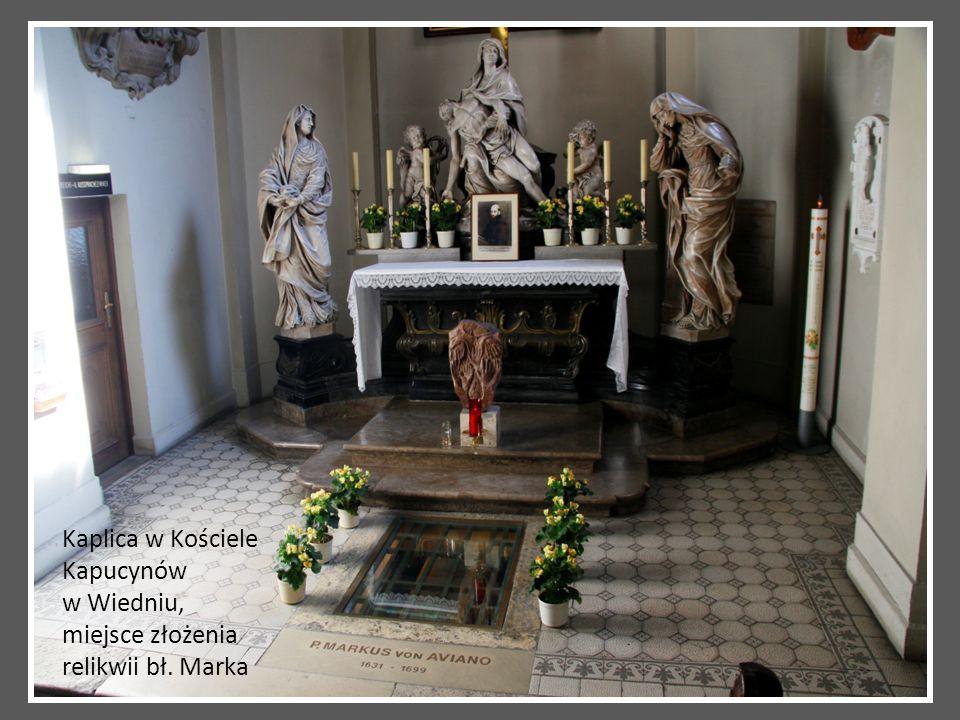 Kaplica w Kościele Kapucynów w Wiedniu, miejsce złożenia relikwii bł